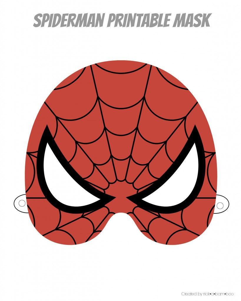 Free Printable Hero Masks … | Spider-Man Birthday - Free Printable Superhero Masks