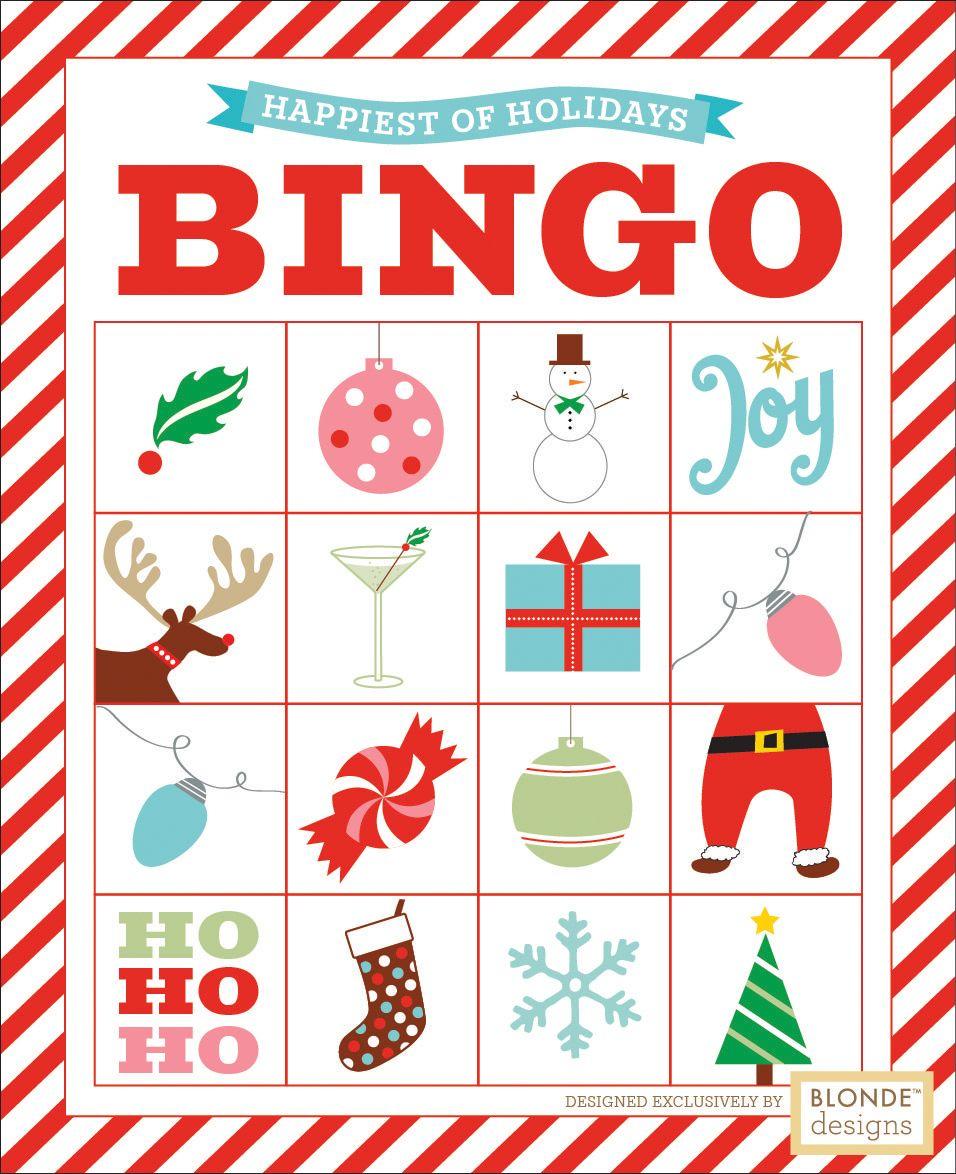 Free Printable: Holiday Bingo {Blonde Designs Blog}   Christmas - Free Printable Christmas Designs
