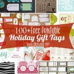 Free Printable Holiday Gift Tags   Diy Gift Tags Free Printable