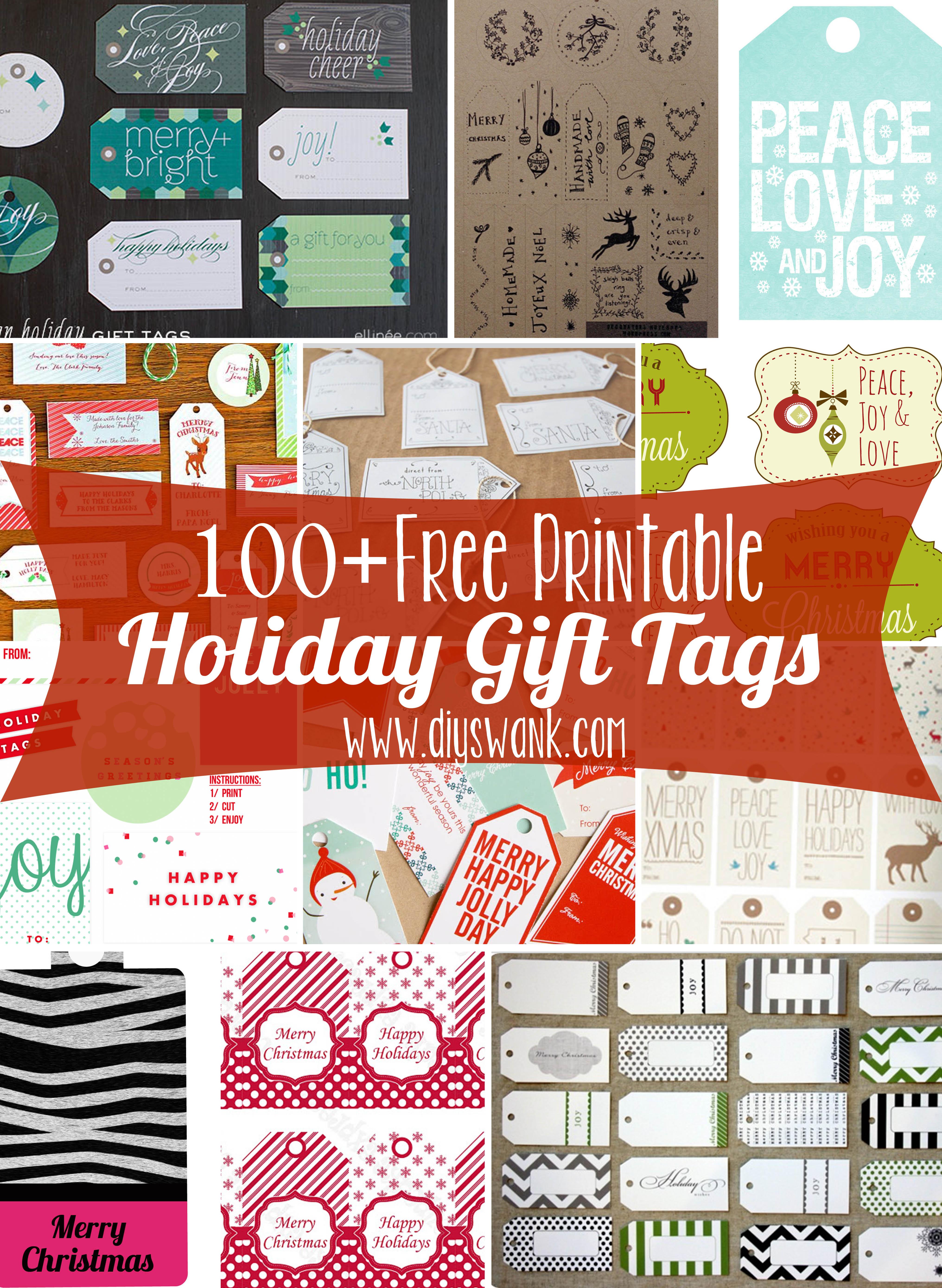Free Printable Holiday Gift Tags - Diy Gift Tags Free Printable