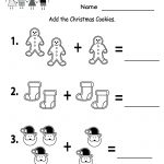 Free Printable Holiday Worksheets | Free Christmas Cookies Worksheet   Christmas Fun Worksheets Printable Free