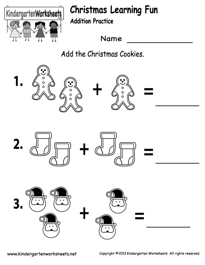 Free Printable Holiday Worksheets   Free Christmas Cookies Worksheet - Free Printable Christmas Books For Kindergarten