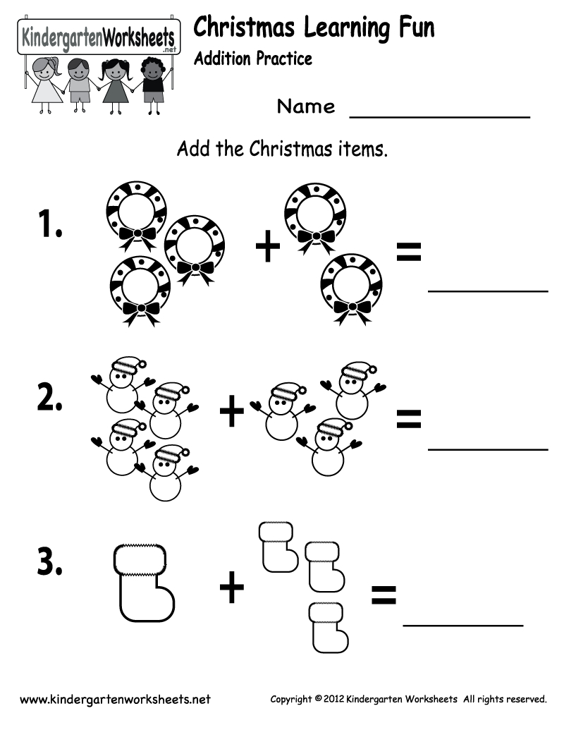 Free Printable Holiday Worksheets | Free Printable Kindergarten - Free Printable Christmas Activities