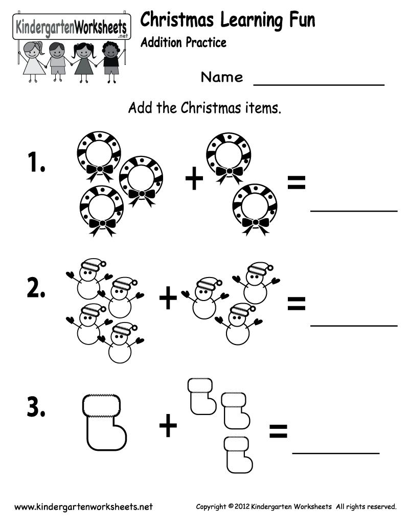 Free Printable Holiday Worksheets | Free Printable Kindergarten - Free Printable Games