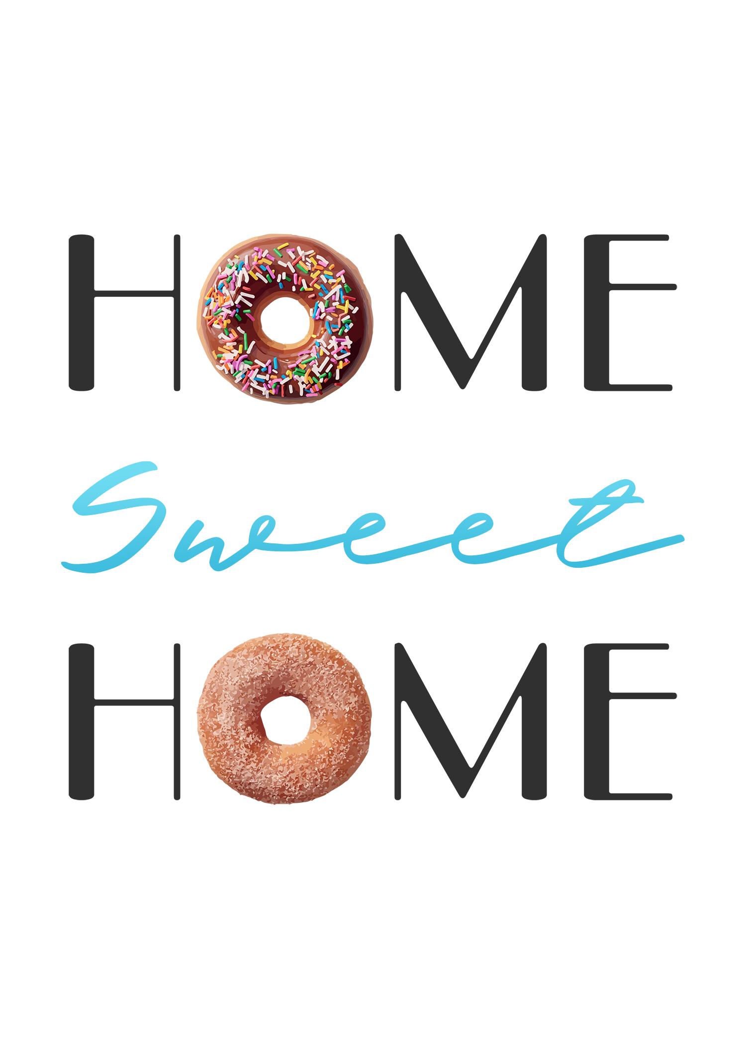 Free Printable Home Sweet Home Wall Art - The Cottage Market - Home Sweet Home Free Printable