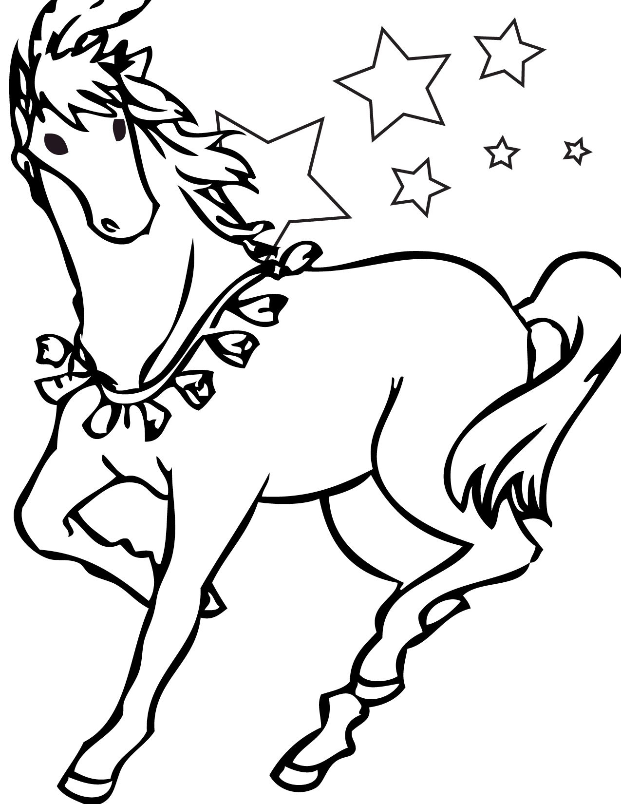 Free Printable Horse Coloring Pages For Kids   Little Ones   Horse - Free Printable Horse Coloring Pages