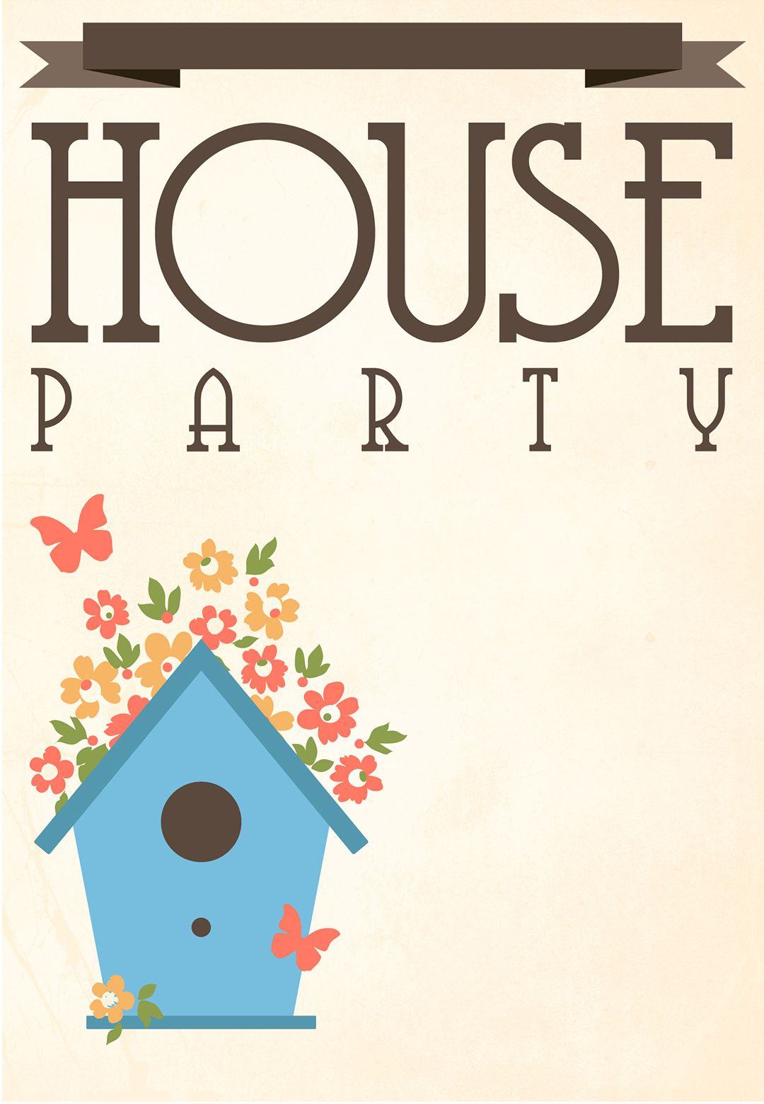 Free Printable House Party Invitation | Fonts/printables/templates - Free Printable Housewarming Invitations Cards