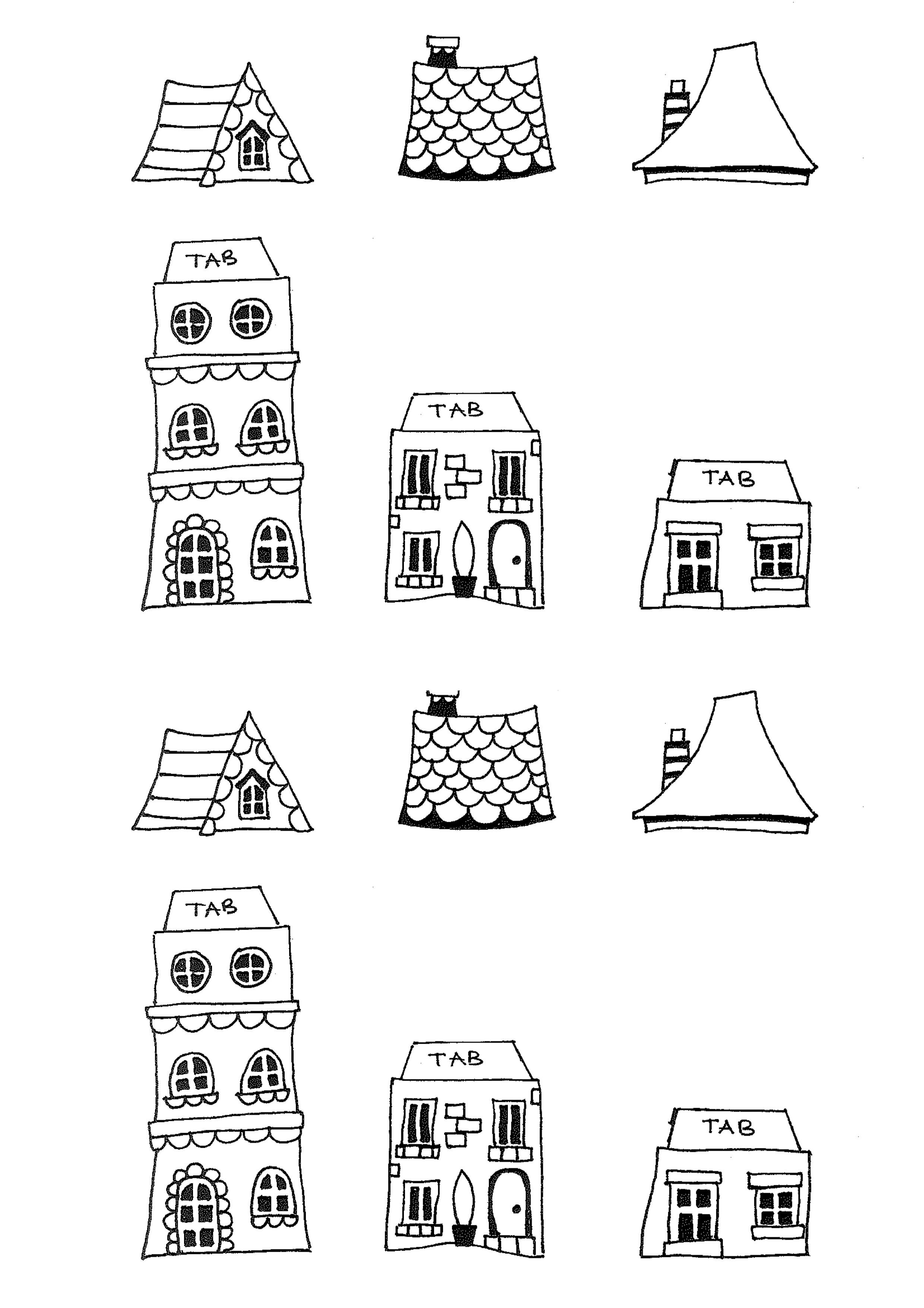 Free Printable House Templates   Doodles And Type - Free Printable Templates