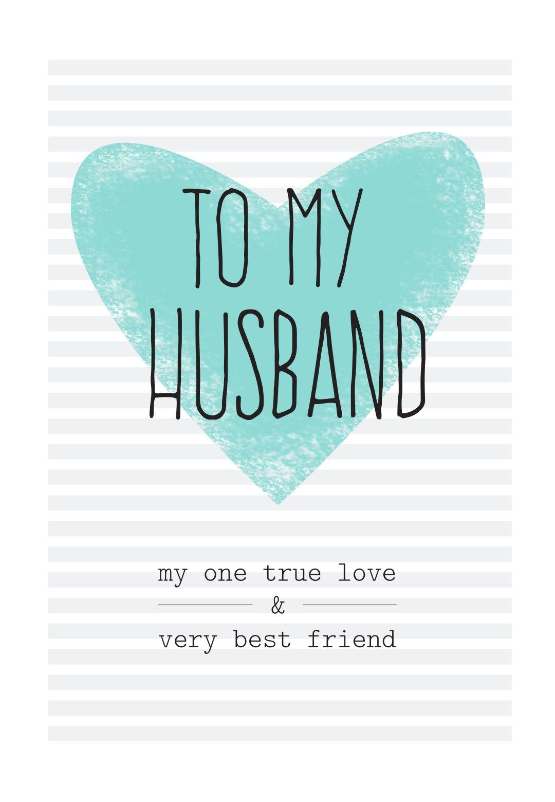 Free Printable Husband Greeting Card | Diy | Free Birthday Card - Free Printable Birthday Cards For Husband