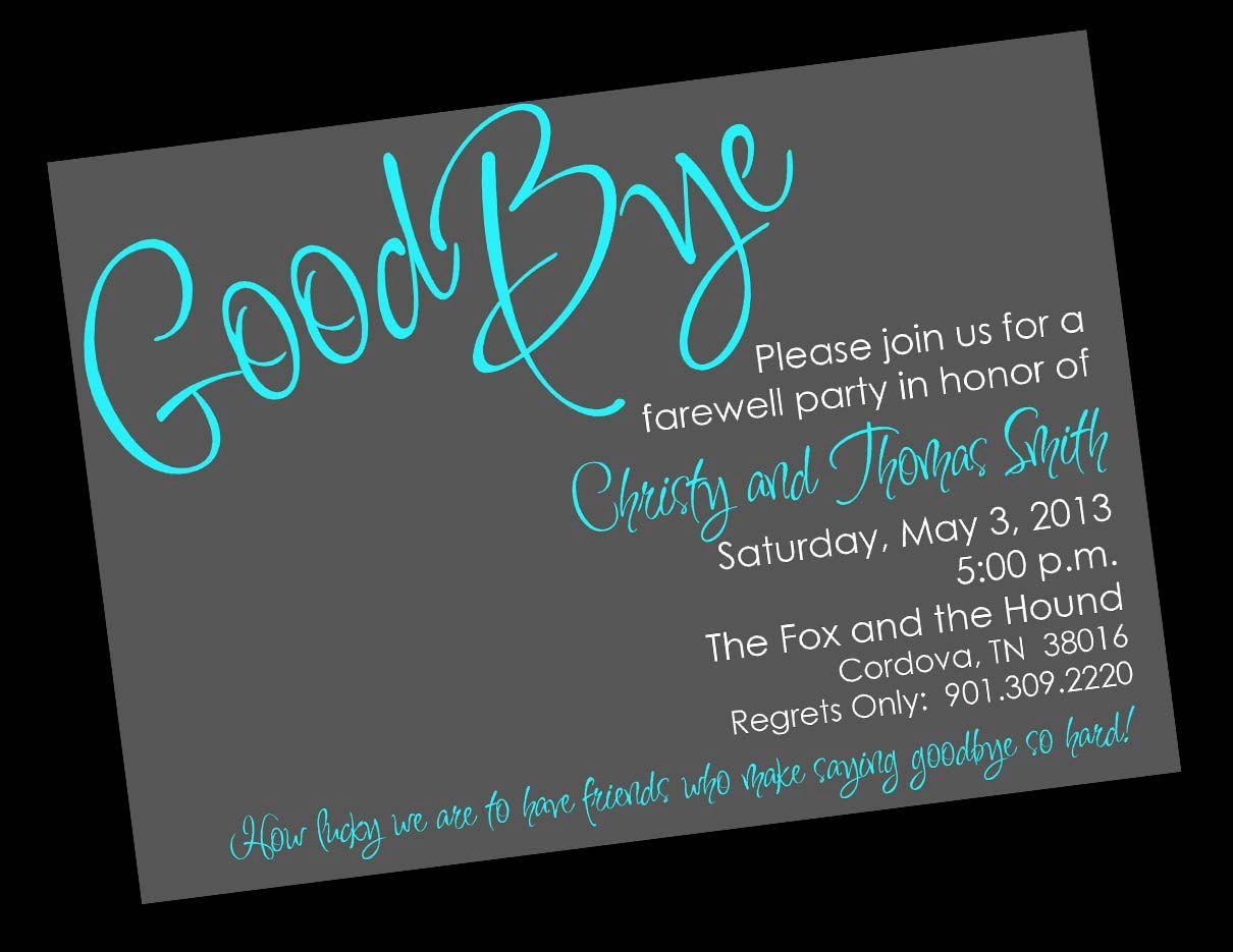Free Printable Invitation Templates Going Away Party … | Party Ideas - Free Printable Retirement Party Invitations