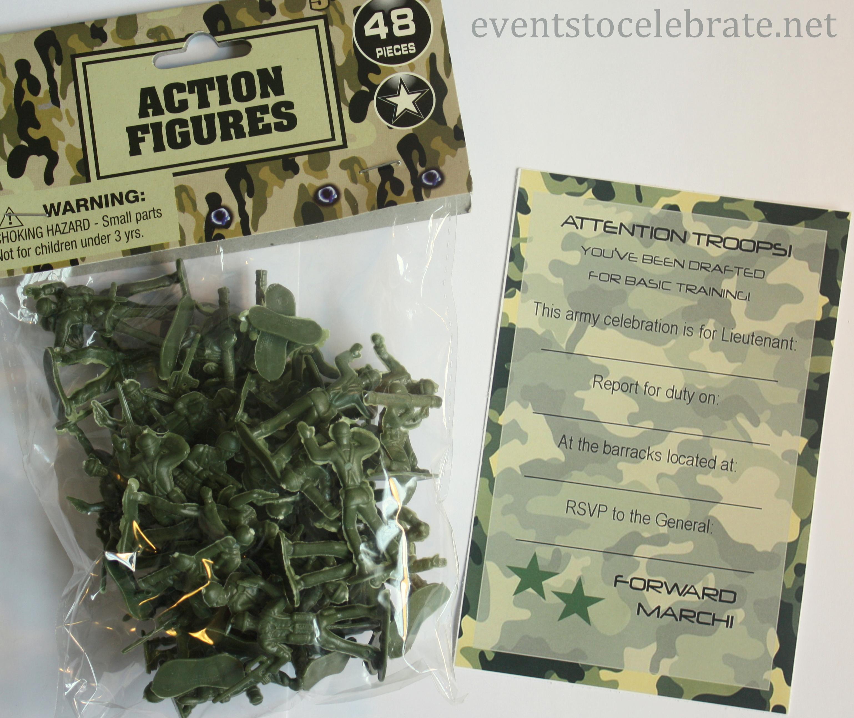 Free Printable Invitations: Army, Car Racing & Swim Party - Events - Free Printable Camouflage Invitations