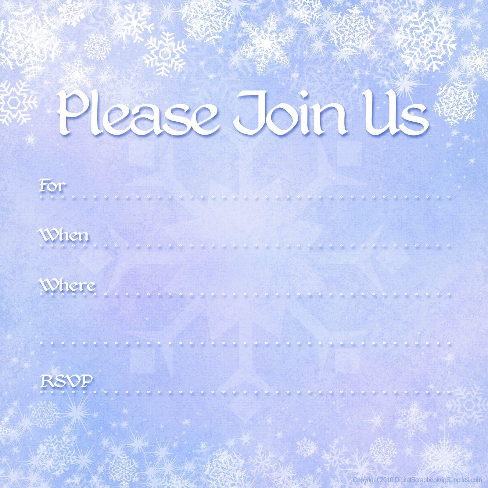 Free Printable Invites | Free Printable Party Invitations: Free - Holiday Invitations Free Printable