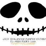 Free Printable Jack Skellington Pumpkin Carving Stencil Templates   Jack Skellington And Sally Pumpkin Stencils Free Printable