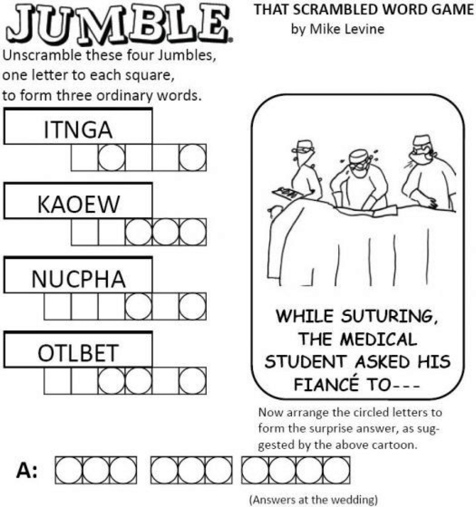 Free Printable Jumble Word Games   Free Printable - Free Printable Jumble Word Games