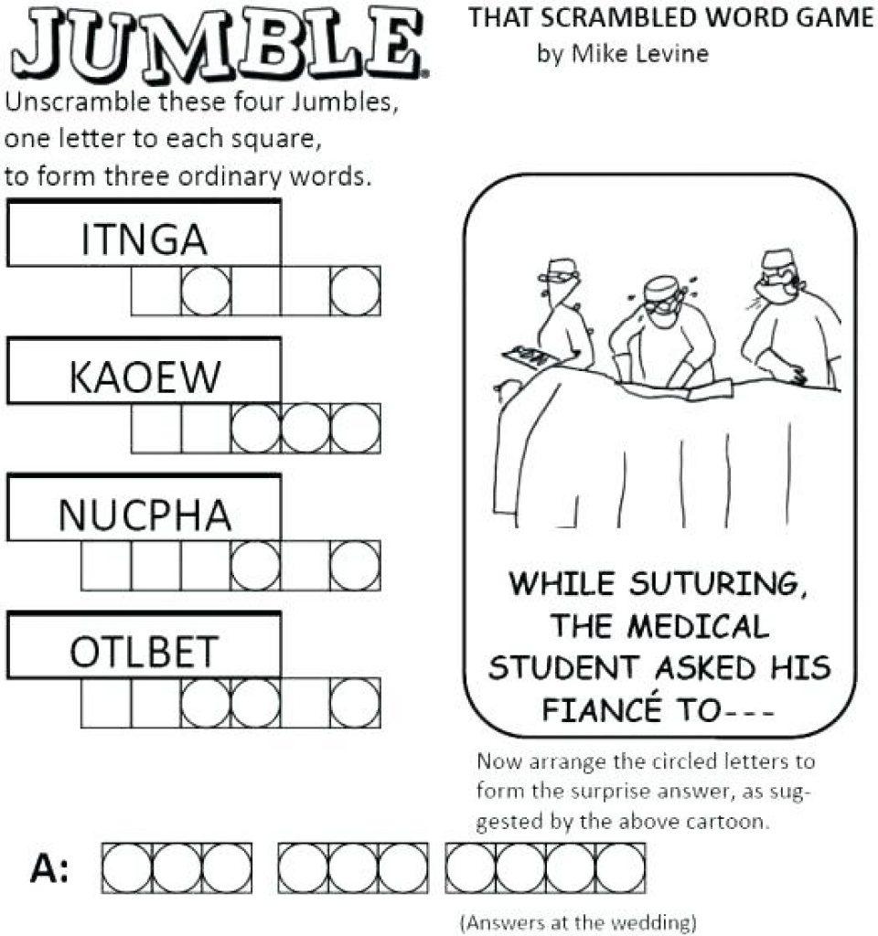 Free Printable Jumbles | Free Printable - Free Printable Jumbles