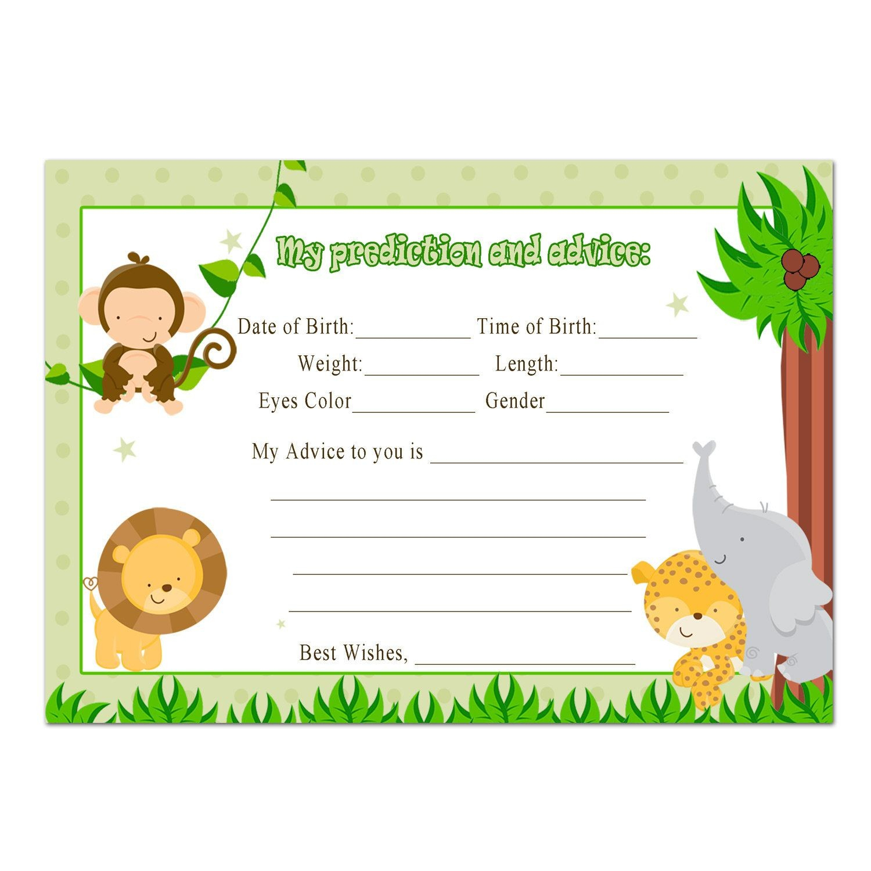 Free Printable Jungle Theme Baby Shower Invitation Templates - Baby - Free Printable Jungle Safari Baby Shower Invitations