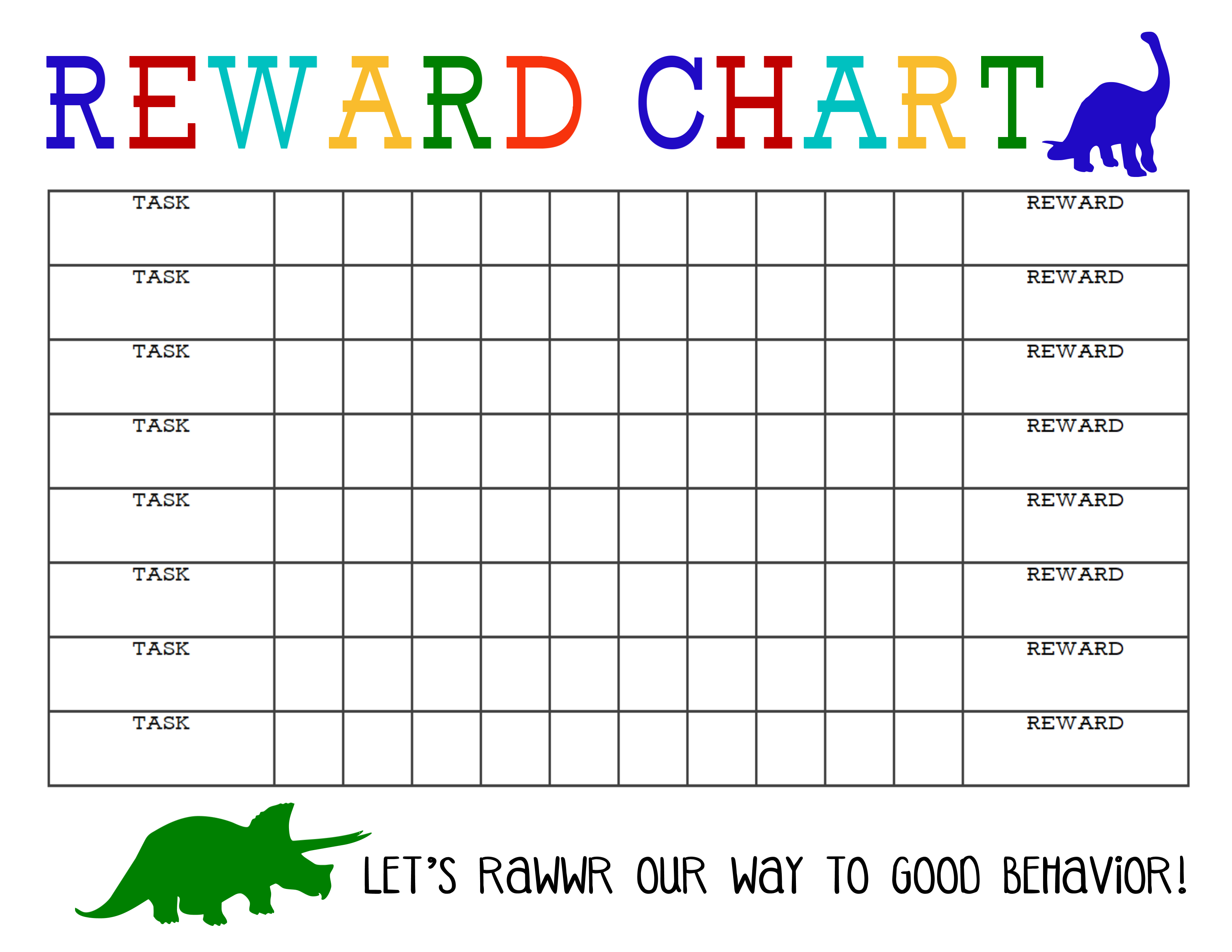 Free Printable Kids Chore & Rewards Chart Reward Charts For Pics - Free Printable Incentive Charts For Students