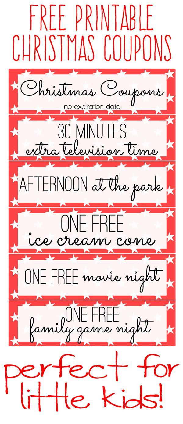Free Printable: Kids Christmas Coupon Books | Freebies | Pinterest - Free Printable Homemade Coupon Book