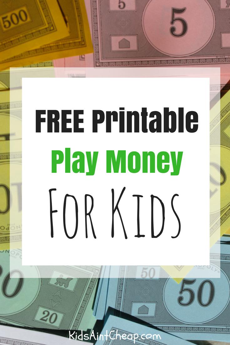 Free Printable Kids Money For Download   Kids Ain't Cheap - Free Printable Money