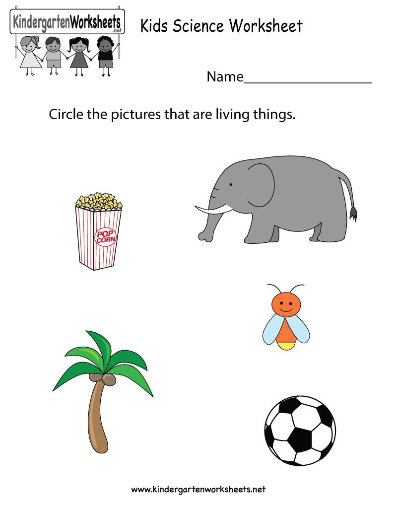 Free Printable Kids Science Worksheet For Kindergarten - Free Printable Worksheets For Kg1
