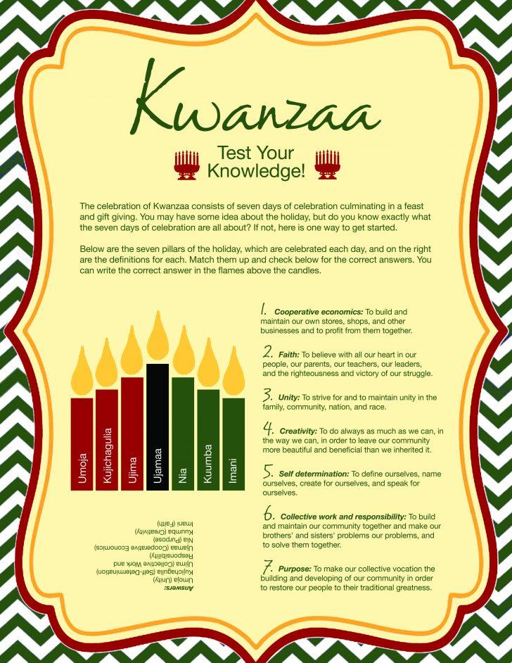 Kwanzaa Trivia Free Printable