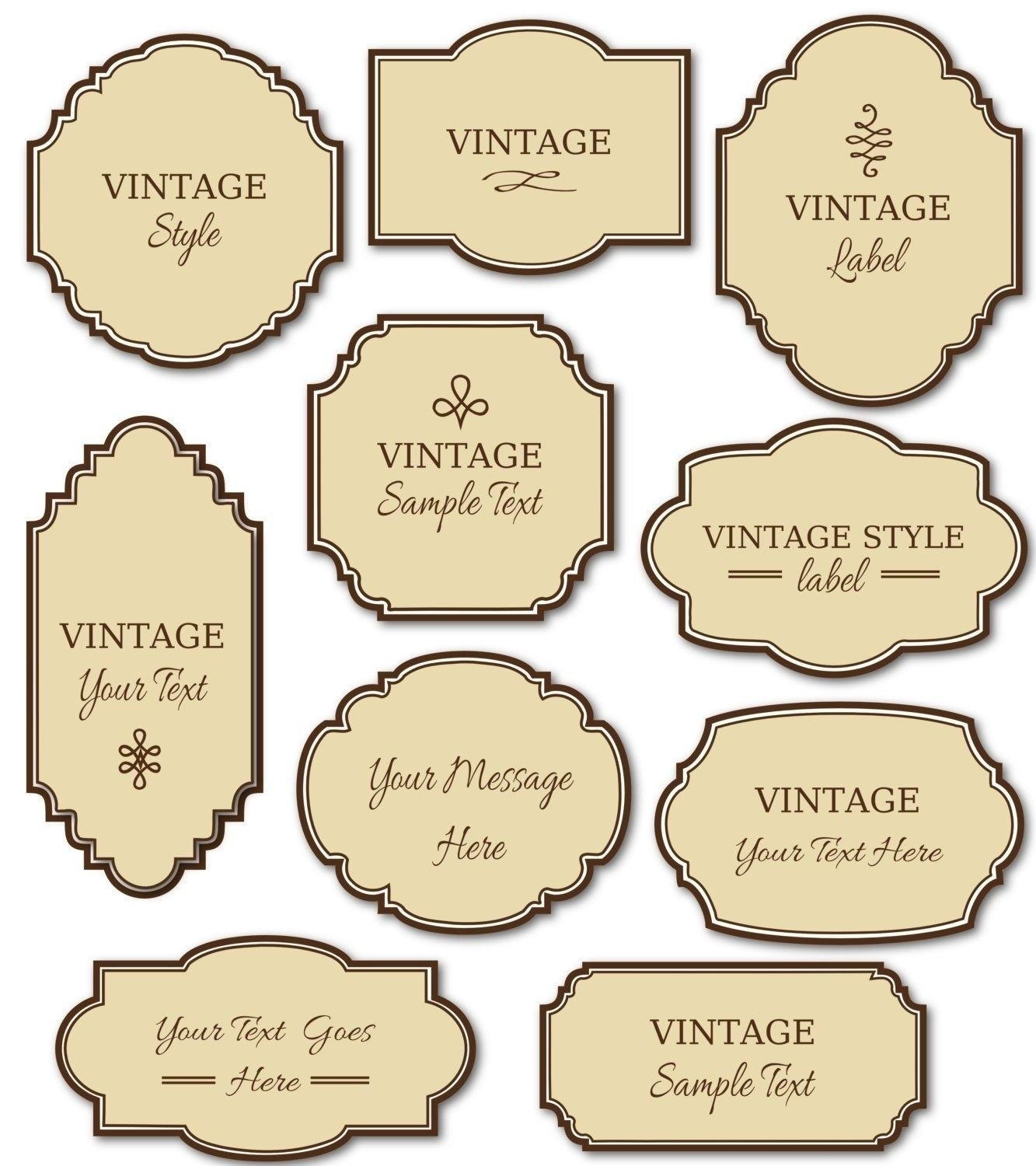 Free Printable Labels Vintage 2018 | Corner Of Chart And Menu - Free Printable Vintage Labels