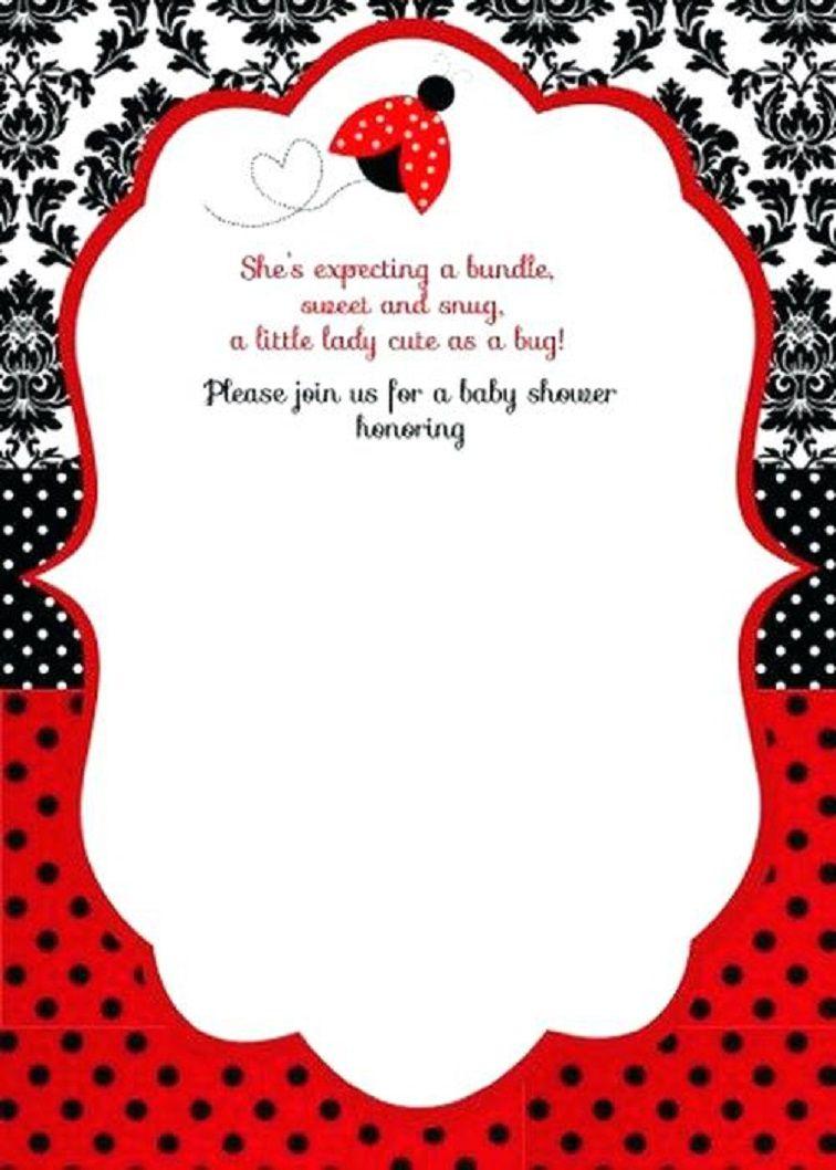Free Printable Ladybug Baby Shower Invitations Templates | Pegs In - Free Printable Ladybug Invitations