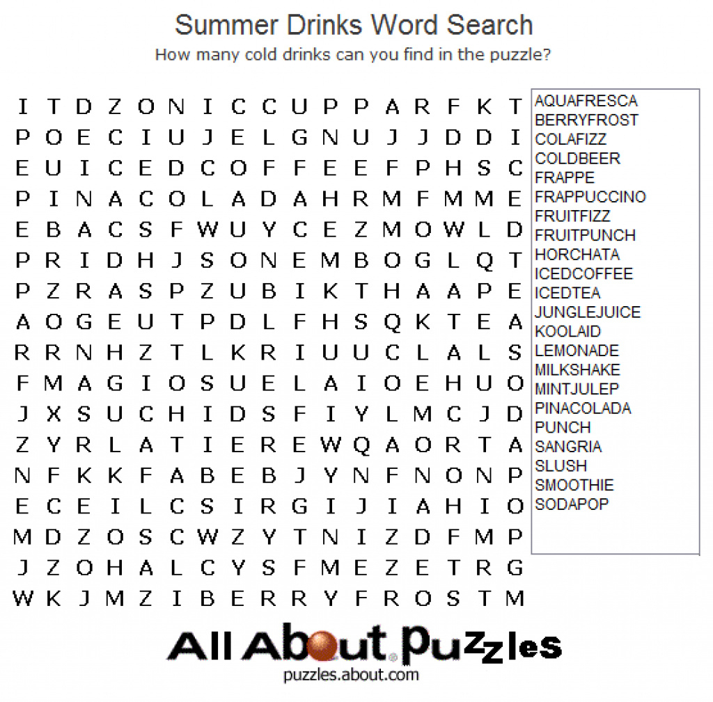 Free Printable Large Print Word Search Puzzles - Printable 360 - Free Large Printable Word Searches
