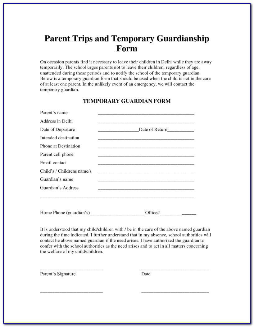 Free Printable Legal Guardianship Forms Florida - Form : Resume - Free Printable Child Guardianship Forms