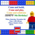 Free Printable Lego Birthday Invitations Boys – Invitetown   Lego Party Invitations Printable Free