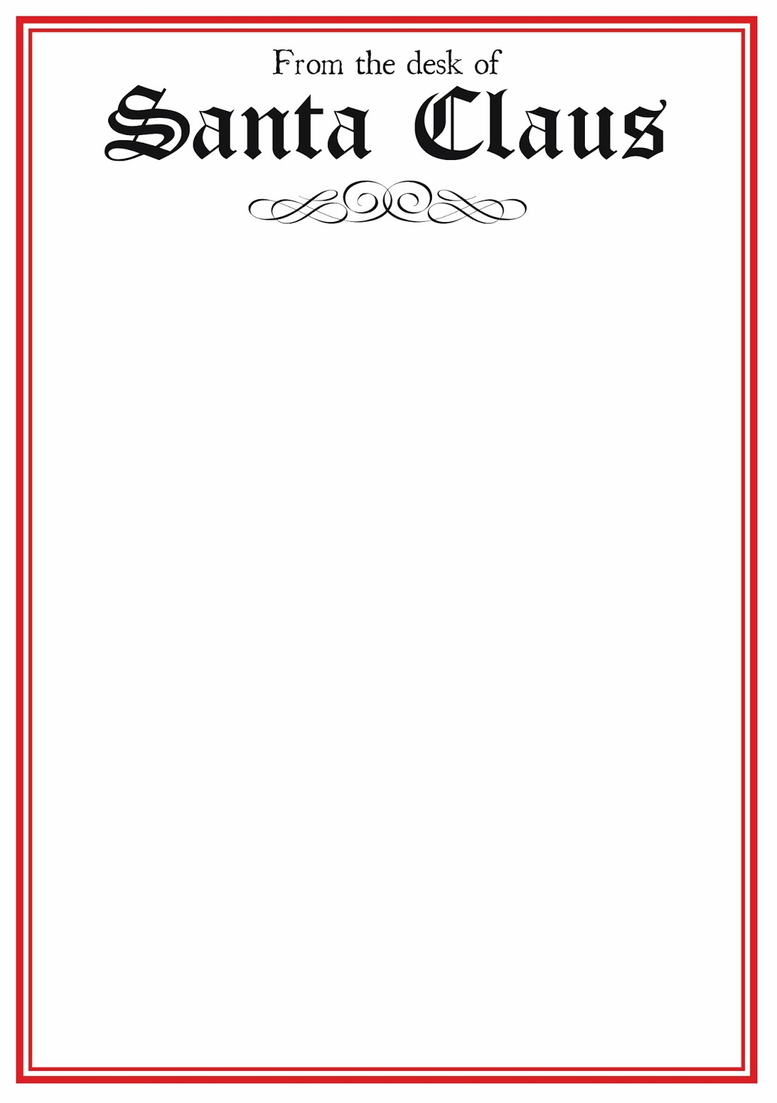 Free Printable Letter From Santa Word Template Samples | Letter - Free Printable Letterhead Templates