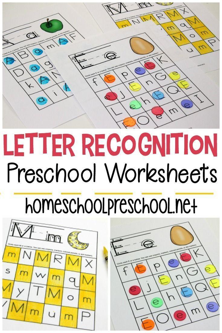 Free Printable Letter Recognition Worksheets | Free Printable - Free Printable Letter Recognition Worksheets