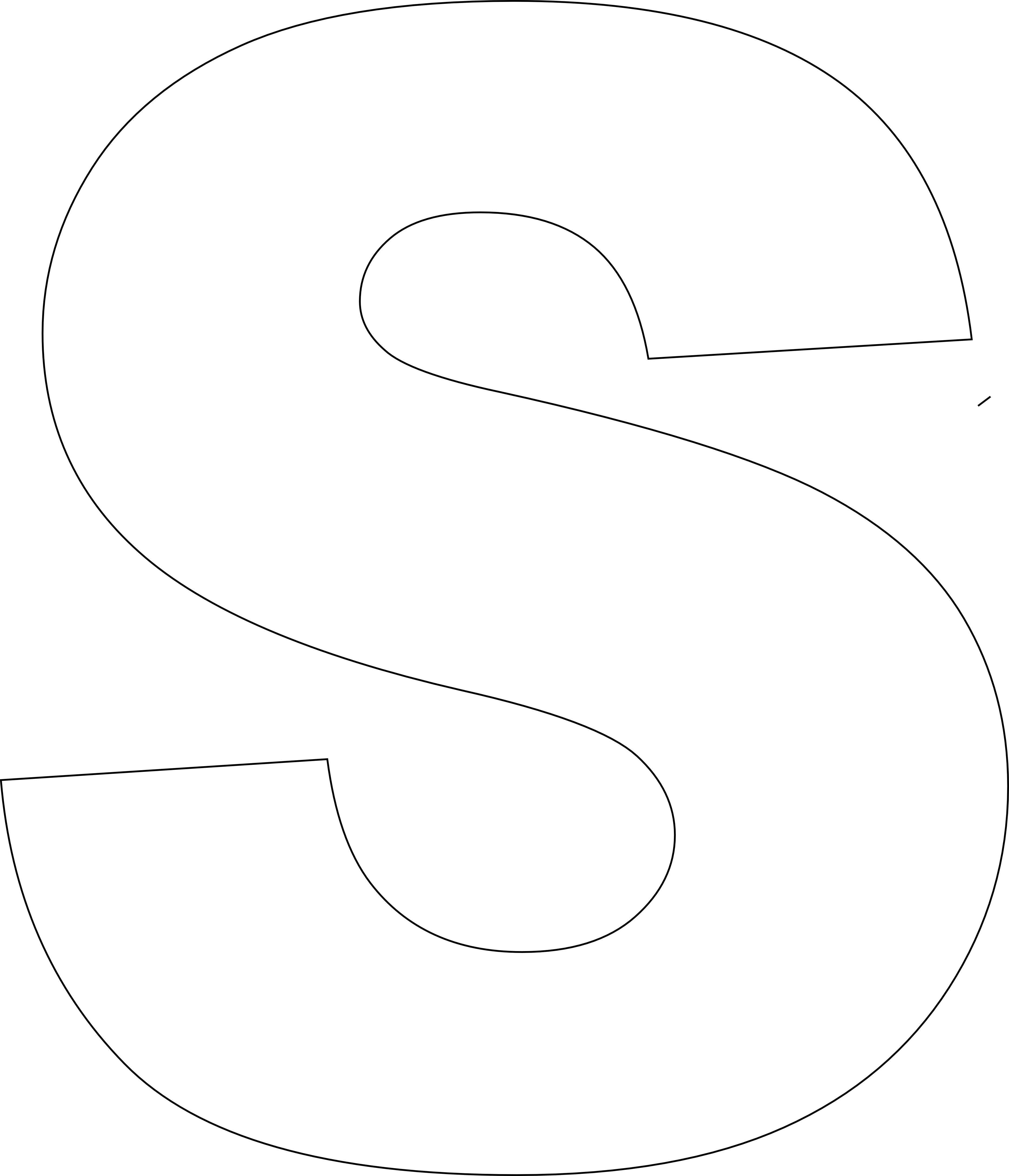 Free Printable Letter Stencil Templates S - 10.5.kaartenstemp.nl • - Free Printable Block Letters