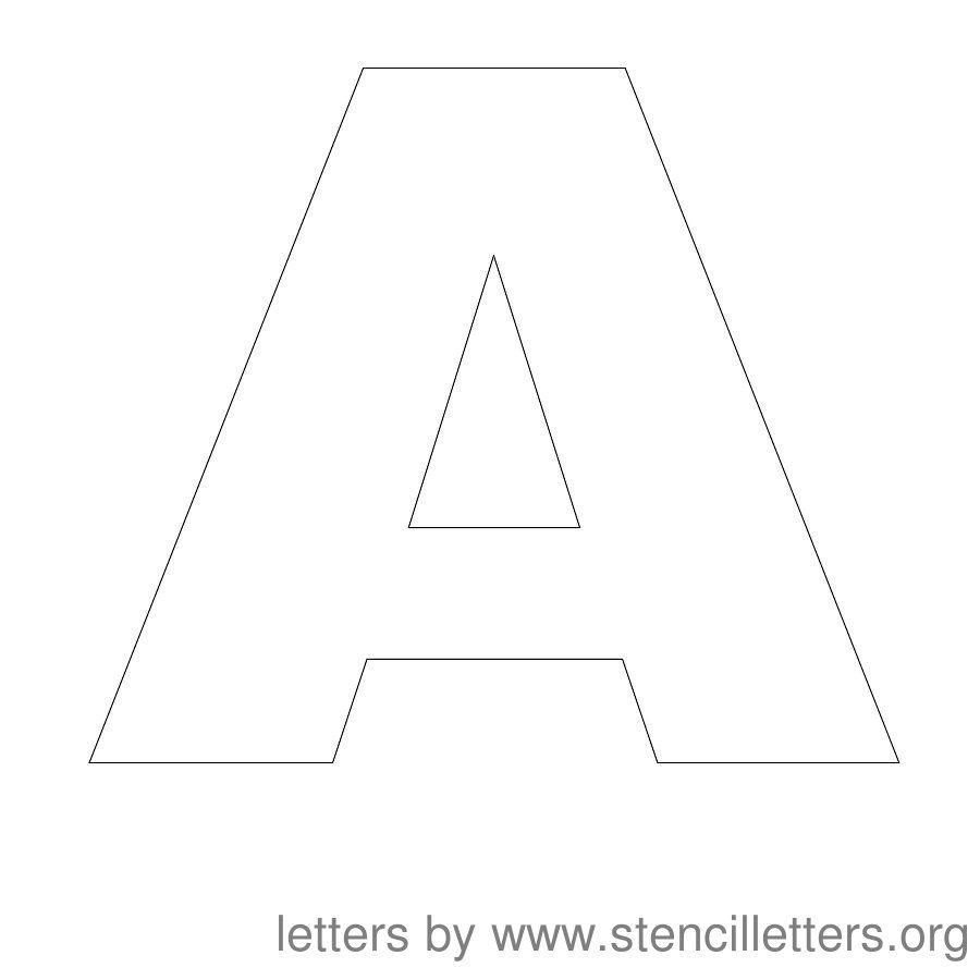 Free Printable Letter Stencils | Stencil Letters 12 Inch Uppercase - Free Printable 4 Inch Block Letters