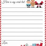 Free Printable Letter To Santa Template ~ Cute Christmas Wish List   Free Printable Christmas Letterhead