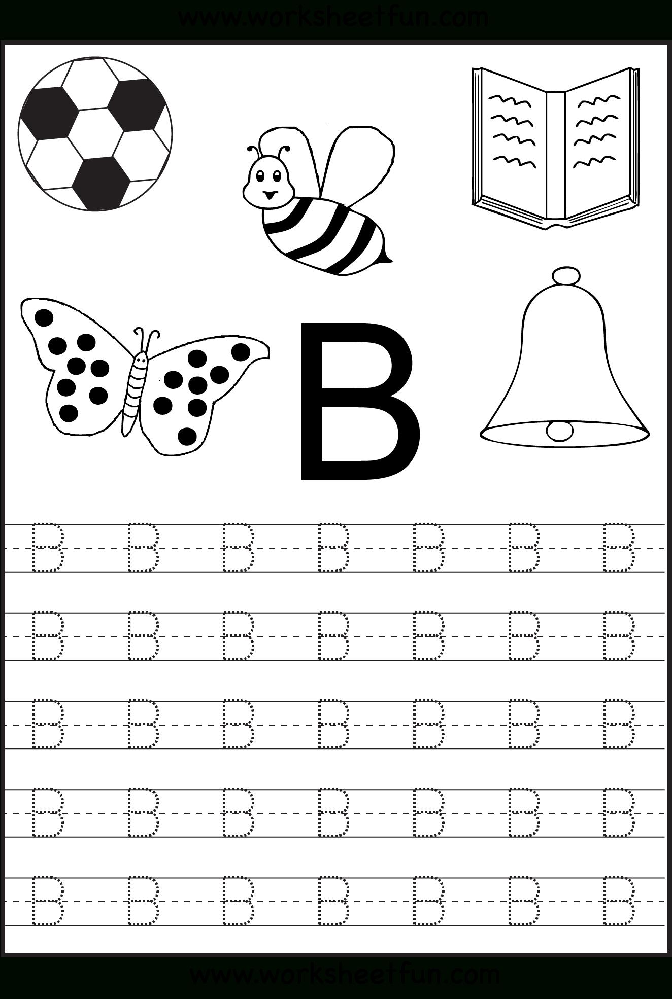 Free Printable Letter Tracing Worksheets For Kindergarten – 26 - Free Printable Alphabet Worksheets For Kindergarten