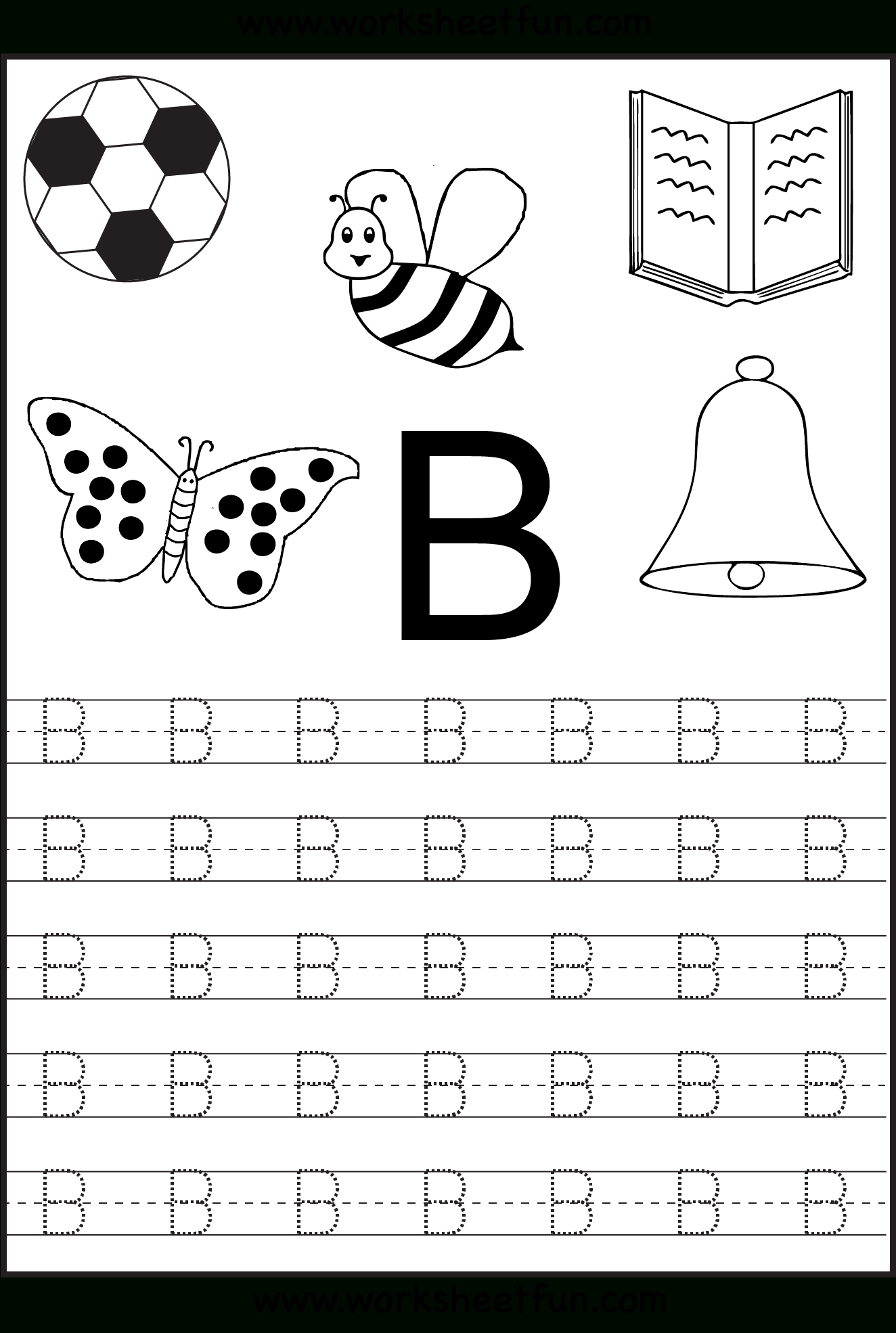 Free Printable Letter Tracing Worksheets For Kindergarten – 26 - Free Printable Letter Tracing Sheets
