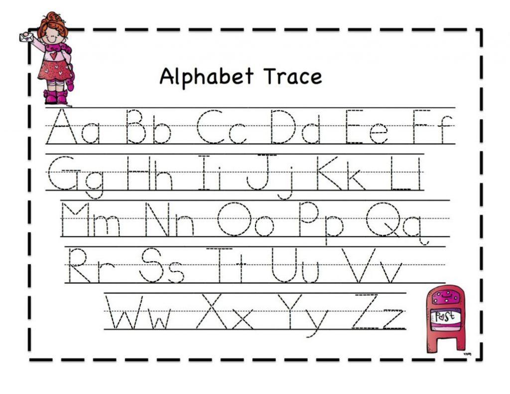 Free Printable Letter V Alphabet Learning Worksheet For Preschool - Free Printable Alphabet Tracing Worksheets