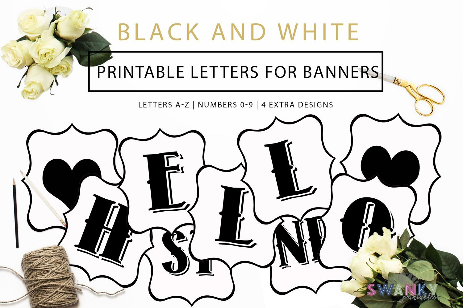 Free Printable Letters | Fonts | Pinterest | Banner Letters - Free Printable Letters Az