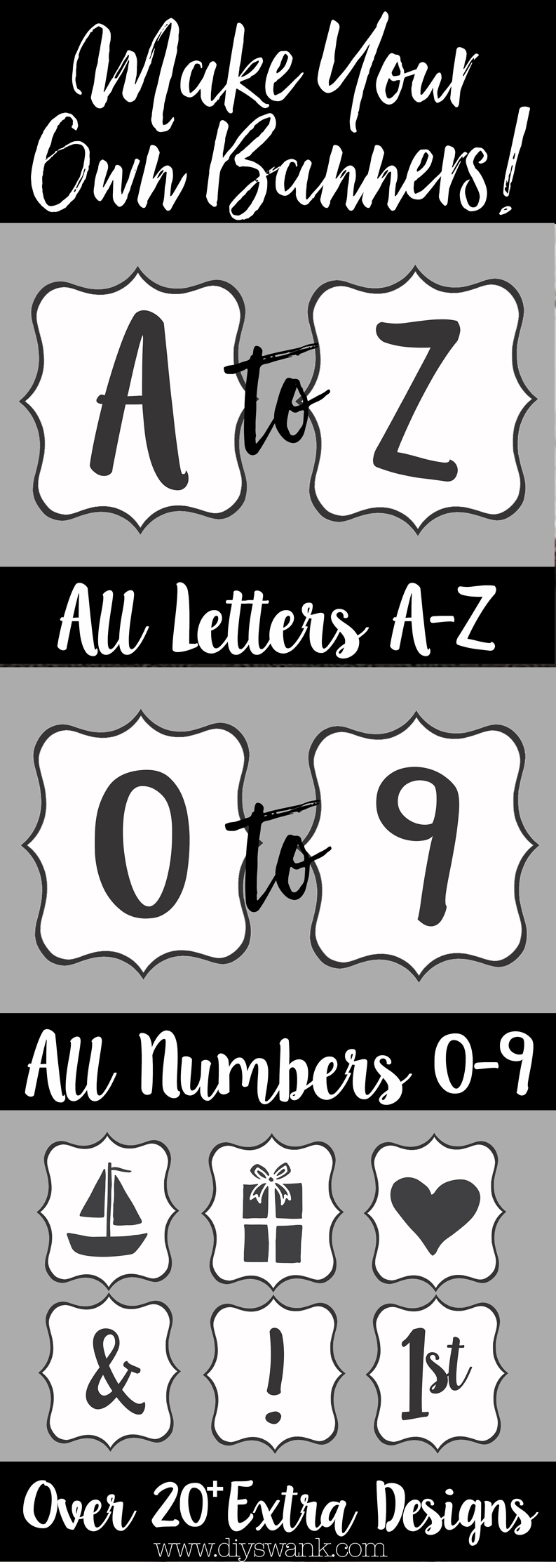 Free Printable Letters For Banners | Party Ideas | Pinterest - Free Printable Letters Az