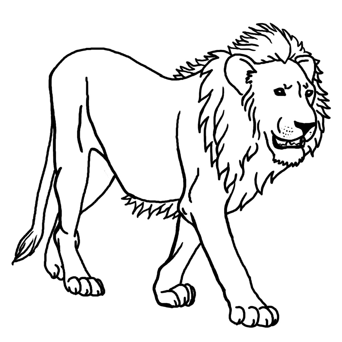 Free Printable Lion Coloring Pages For Kids - Clip Art Library - Free Printable Picture Of A Lion