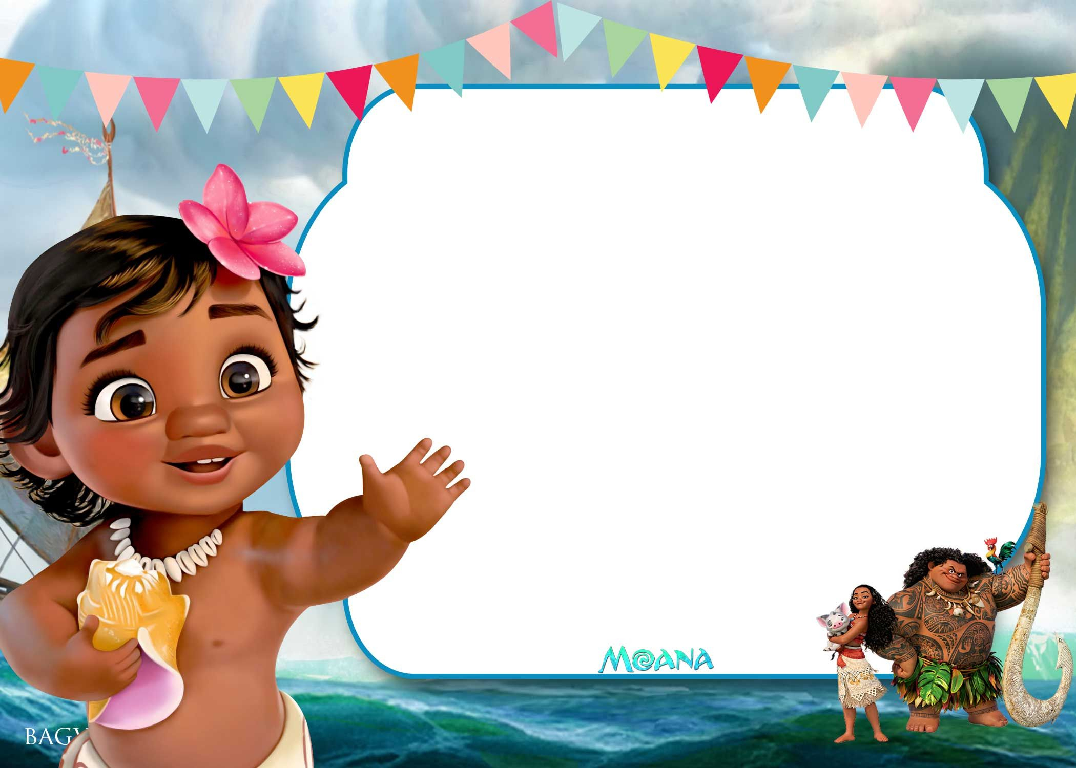 Free Printable Little Moana Birthday And Baby Shower | Moana - Free Printable Moana Birthday Cards