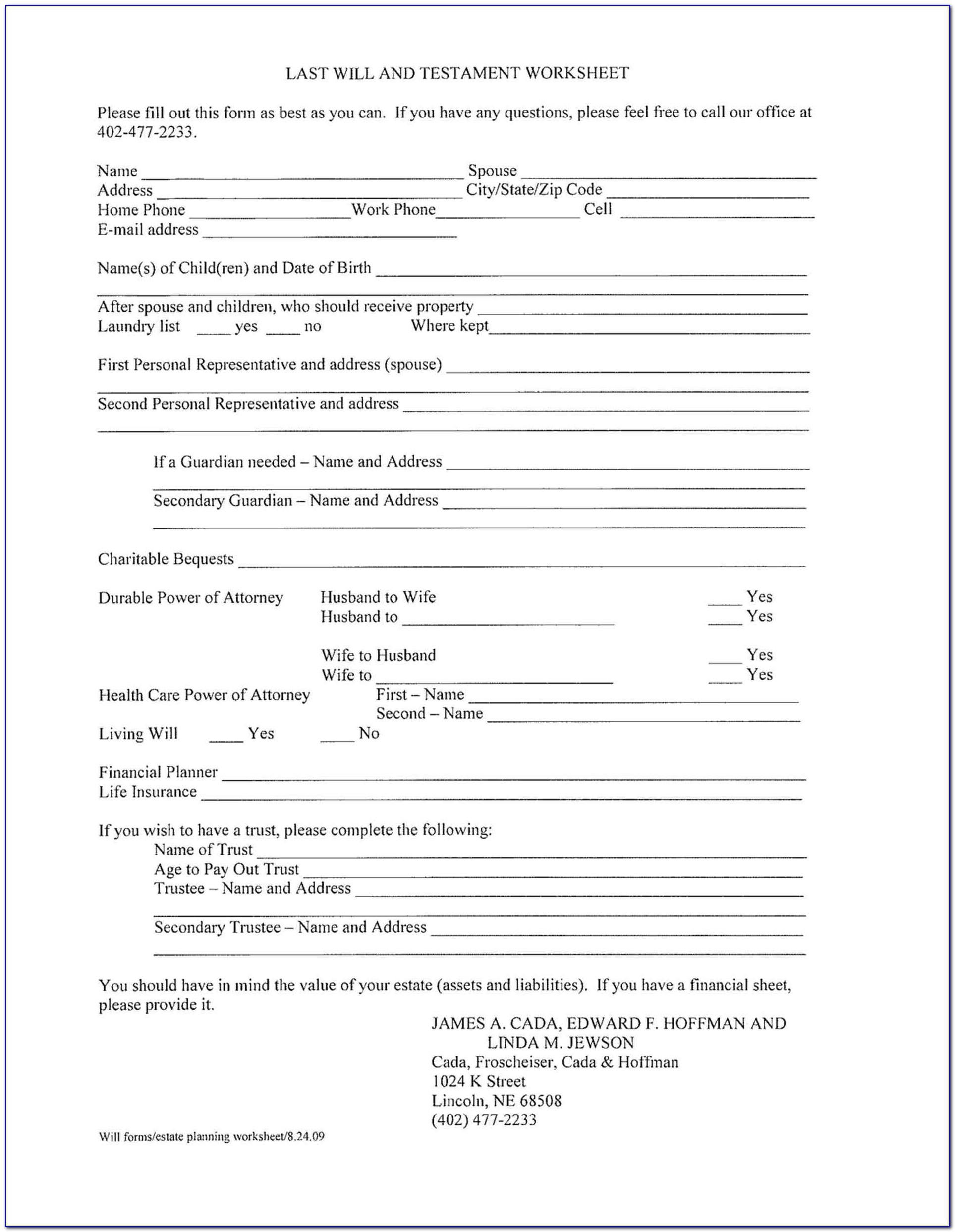 Free Printable Living Will Forms Florida - Form : Resume Examples - Free Printable Will And Trust Forms