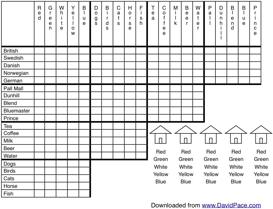 Free Printable Logic Puzzles – Forprint - Free Printable Logic Puzzles