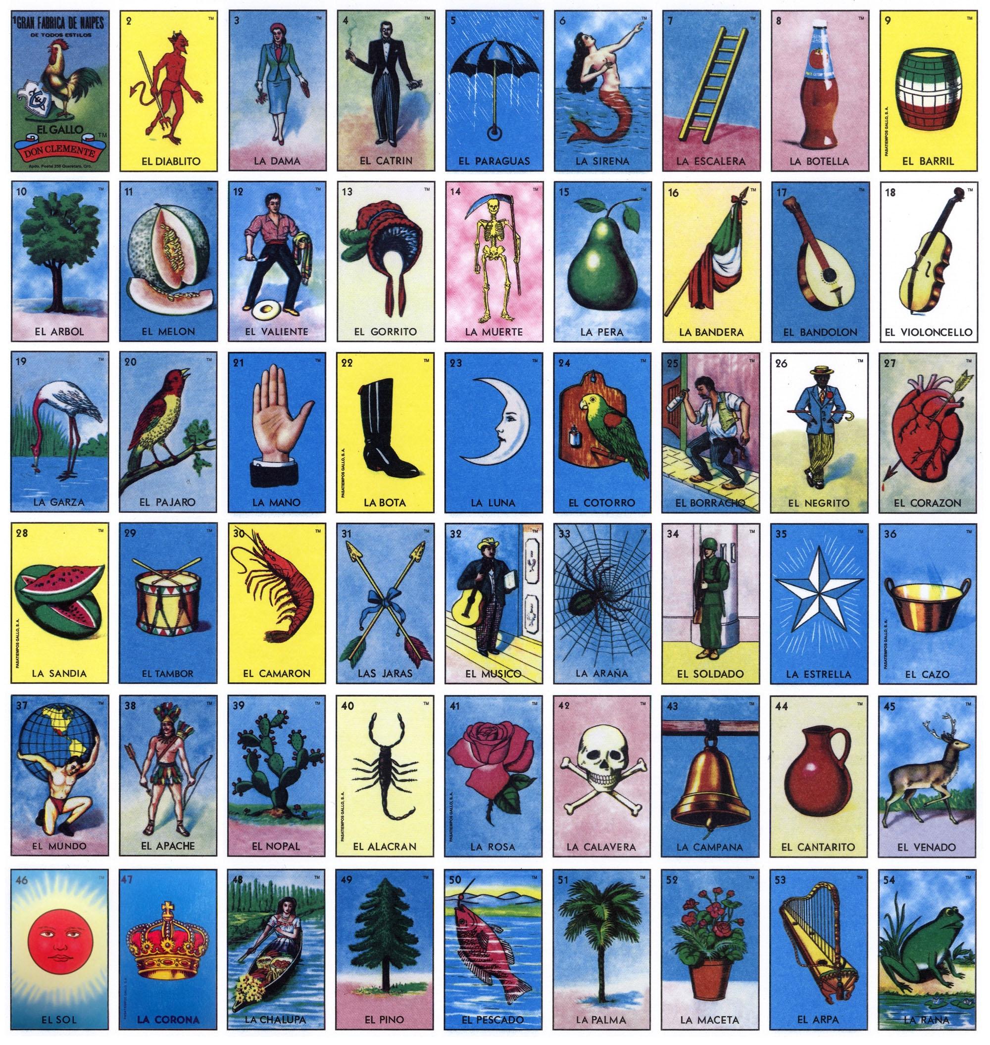 Free Printable Loteria Cards   Health-Symptoms-And-Cure - Loteria Printable Cards Free