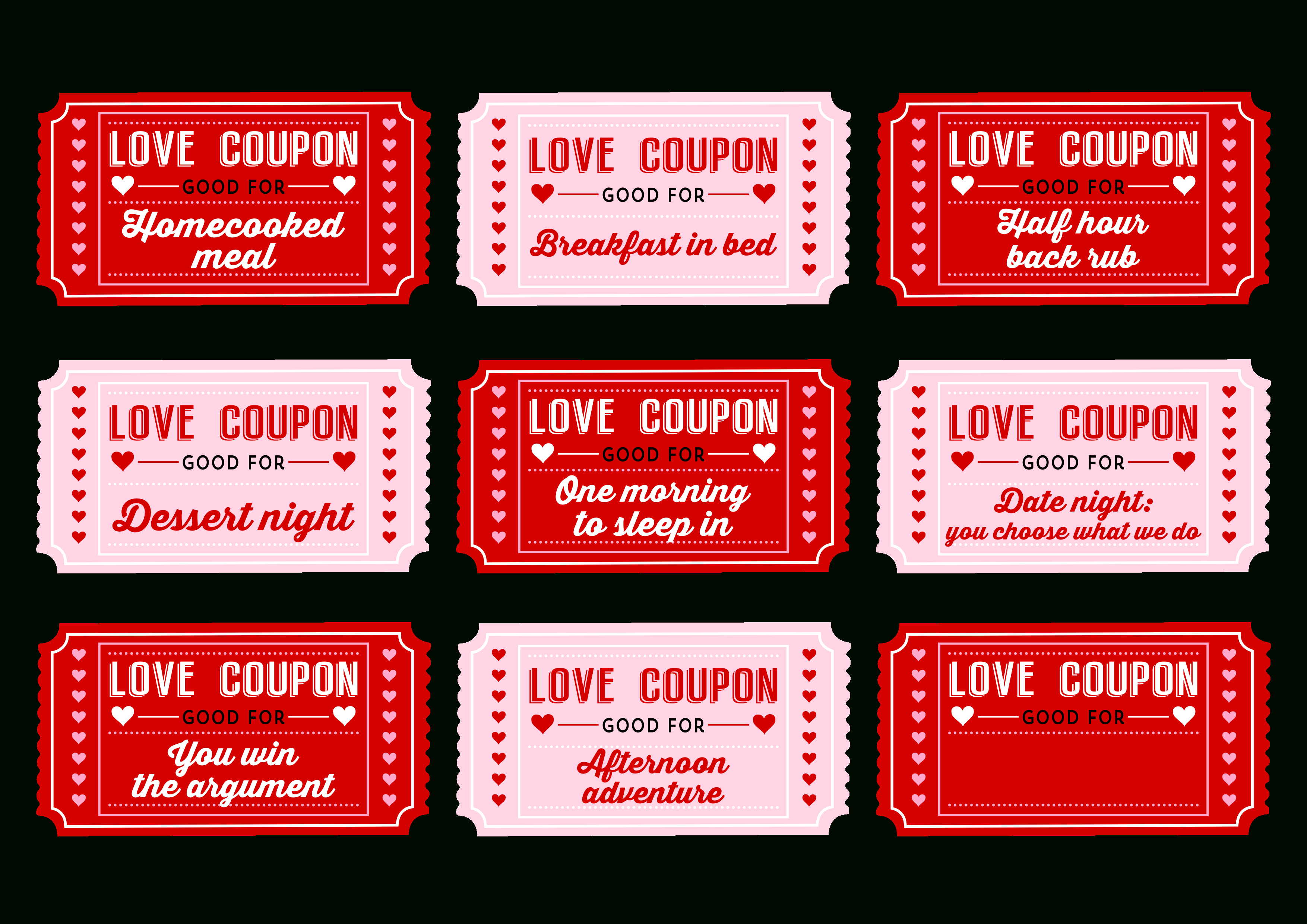 Free Printable Love Coupons For Couples On Valentine's Day! | Catch - Free Printable Coupons For Husband
