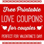 Free Printable Love Coupons For Couples On Valentine's Day   Free Printable Compatibility Test For Couples