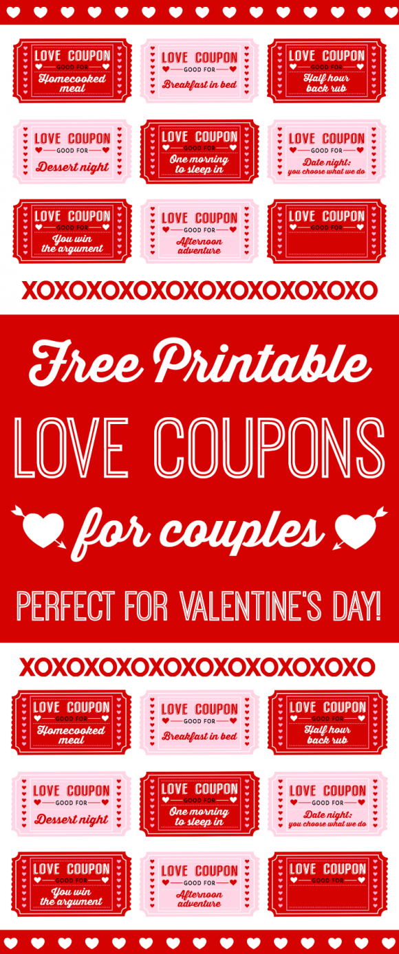 Free Printable Love Coupons For Couples On Valentine's Day - Free Printable Love Certificates For Him