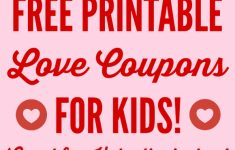Free Printable Love Coupons For Wife
