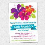 Free Printable Luau Birthday Invitations Templates | Party   Free Printable Luau Baby Shower Invitations